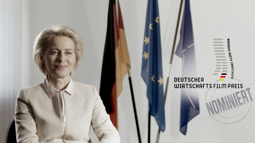 Ursula von der Leyen_al Dente Entertainment_Deutscher Wirtschaftsfilmpreis